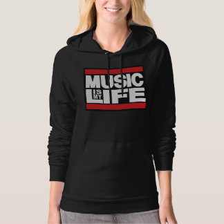 Music is My Life Red Hoodies