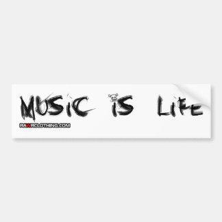 Music Is My Life Skull Bumper Sticker