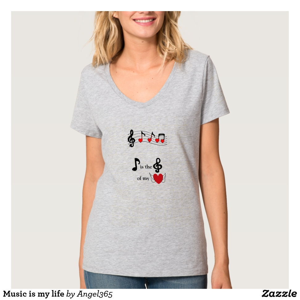 Music is my life T-Shirt - Best Selling Long-Sleeve Street Fashion Shirt Designs
