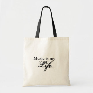 Music is my Life Tote Canvas Bag