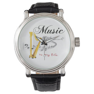 Music is my life wrist watch