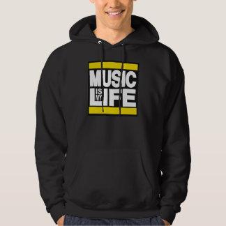 Music is My Life Yellow Hoodie