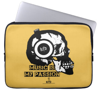 music is my passion laptop sleeve