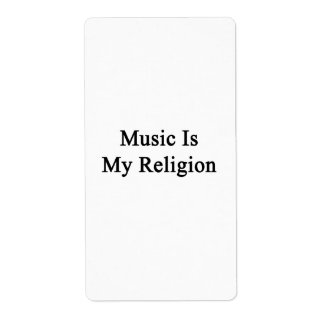 Music Is My Religion Custom Shipping Label