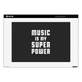 "Music is my superpower 15"" laptop skin"