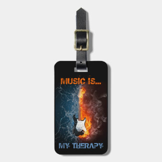 MUSIC IS MY THERAPY LUGGAGE TAG