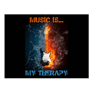 MUSIC IS MY THERAPY POSTCARD