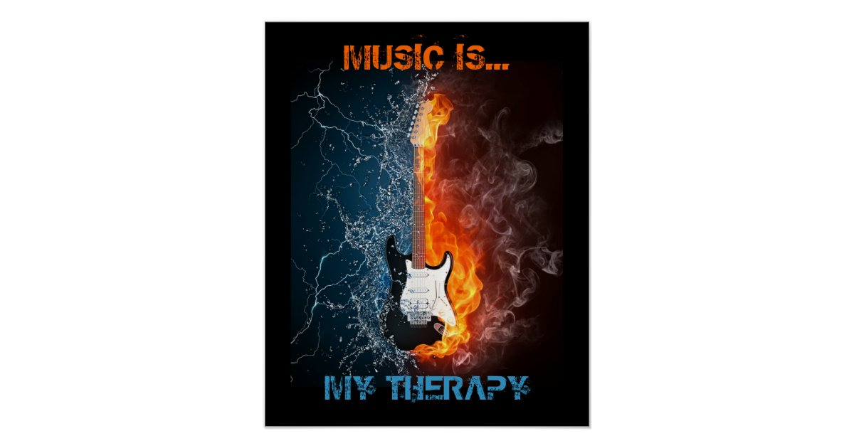 Music Is My Therapy Poster Zazzle