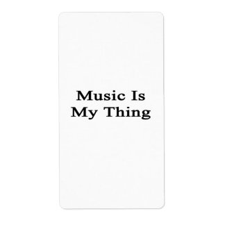 Music Is My Thing Personalized Shipping Labels