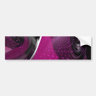 Music is pink geometry bumper sticker