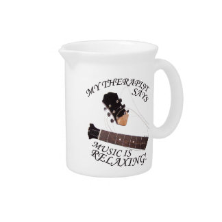 Music Is Relaxing Drink Pitcher