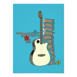 Music is Self Expression Guitar Card