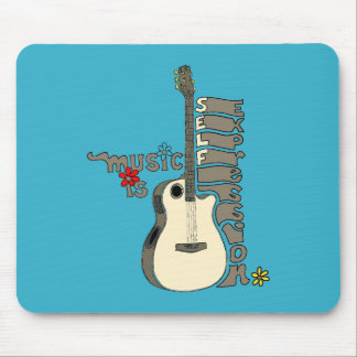Music is Self Expression Guitar Mouse Pad