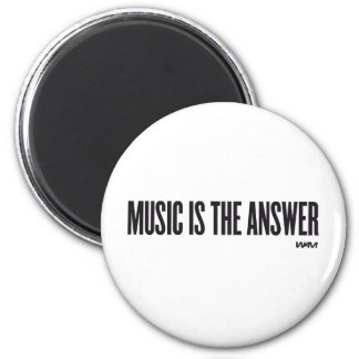 Music is the answer refrigerator magnet