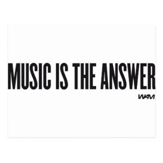 Music is the answer postcard