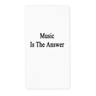 Music Is The Anwer Custom Shipping Label