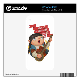 Music Is The Best Magic iPhone 4 Decal