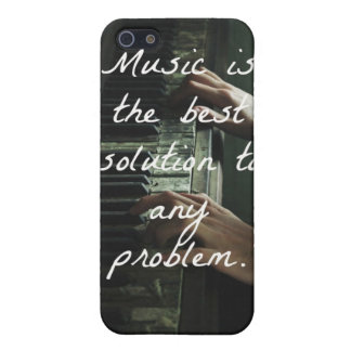 Music is the best solution to any problem cover for iPhone SE/5/5s
