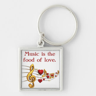 Music Is The Food Keychain