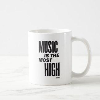 music is the most high coffee mug