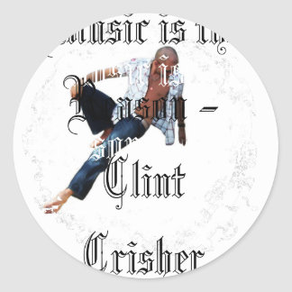Music Is The Reason Classic Round Sticker