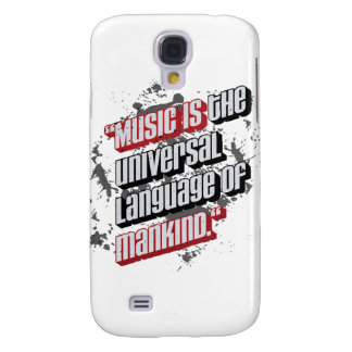 Music is the universal language of mankind. samsung s4 case