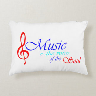 Music is the voice of the Soul 2 Decorative Pillow