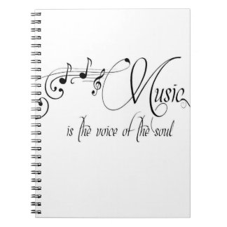 Music Is The Voice Of The Soul Notebook
