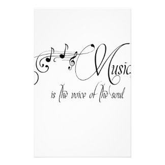 Music Is The Voice Of The Soul Stationery