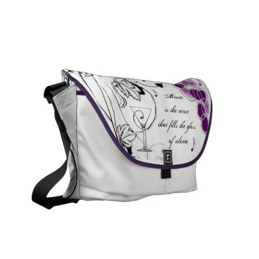 Music is the wine Shoulder Bag Messenger Bag