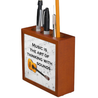 Music is thinking with sound Guitar Desk Organizer