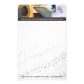 Music is thinking with sound Guitar Stationery