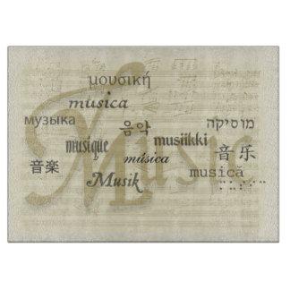 Music Is Universal Language Cutting Board