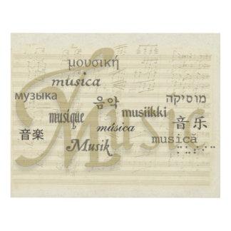 Music Is Universal Language Panel Wall Art