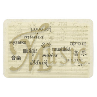 Music Is Universal Language Rectangular Photo Magnet