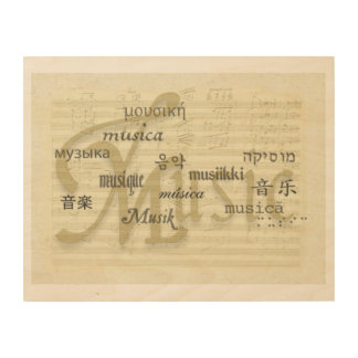 Music Is Universal Language Wood Canvases