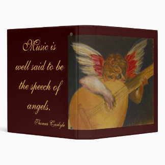 Music is well said to be the speech of angels vinyl binder