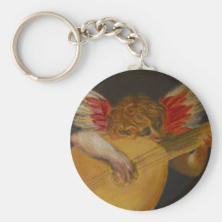 Music is well said to be the speech of angels keychain
