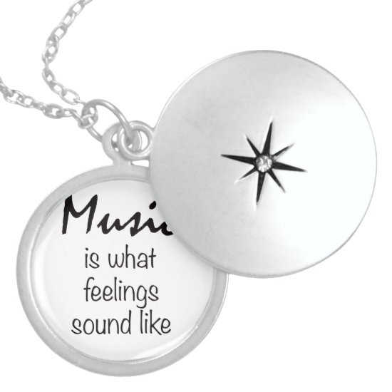 Music is what feeling sound like Necklace Jewelry