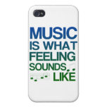 Music is What Feeling Sounds Like Quote iPhone 4/4S Case
