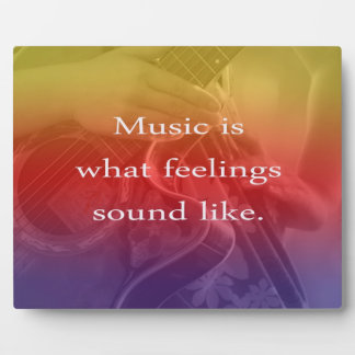 music is what feelings sound like guitar design photo plaques