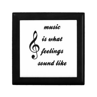 Music Is What Feelings Sound Like Jewelry Box