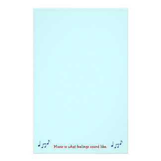 Music Is What Feelings Sound Like Stationary Stationery
