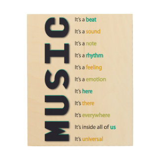 Music It's A Beat Wood Wall Art