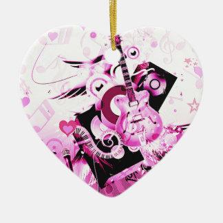 Music Journey,Pink_ Ceramic Ornament