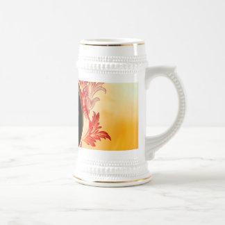 Music, key notes with elegant, decorative damasks coffee mug
