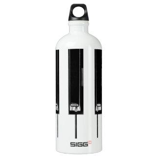 Music keyboard aluminum water bottle