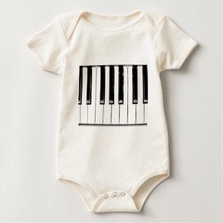 Music keyboard baby bodysuit