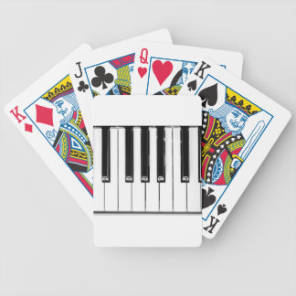 Music keyboard bicycle playing cards