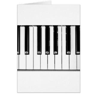 Music keyboard card